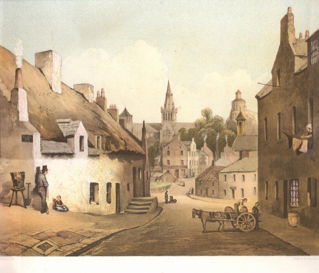 Lithograph 1 -Ladywell St. at the Cathedral
