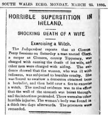 Newspaper Witch Burning 1