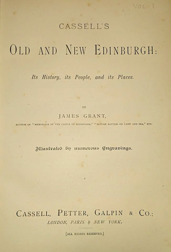 Old and New Edinburgh Publisher's Page