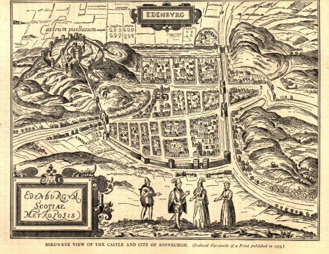 Map of Edinburgh 1575