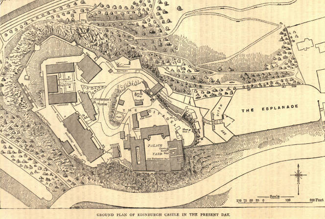 Map of Edinburgh Castle 1880