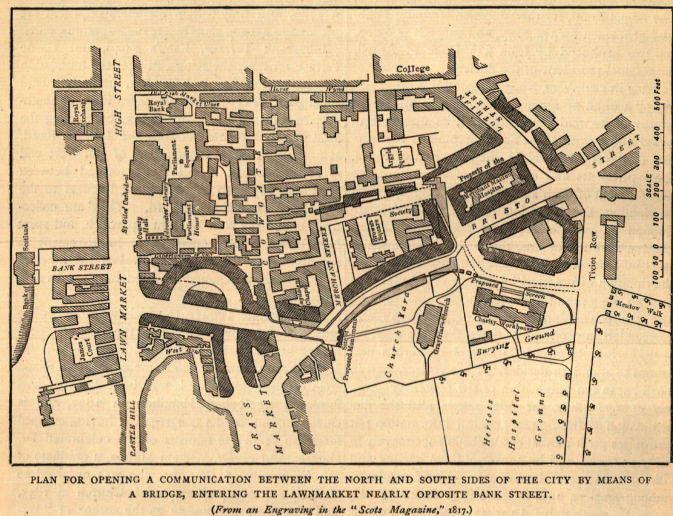 Map of Plans for Edinburgh 1817