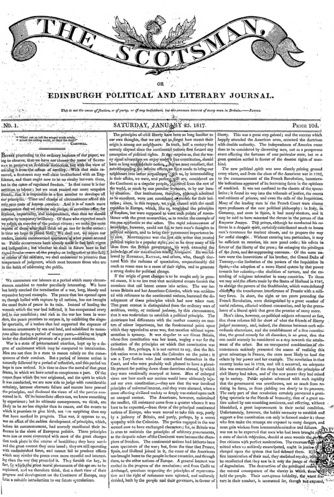 scotsman 25january1817 frontpage
